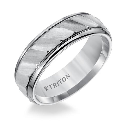 Triton Black Tungsten Carbide wedding band.