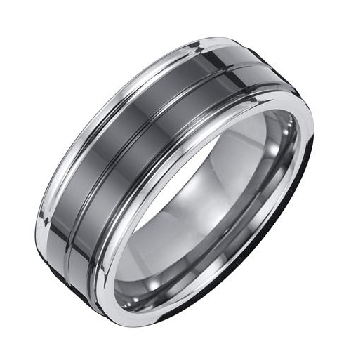 Unique wedding ring made with Tungsten Carbide by Triton.
