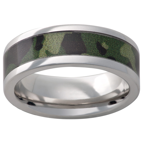 Men's rings in Military Camo.
