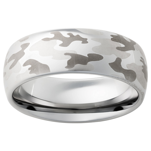 Men's wedding band in camo.