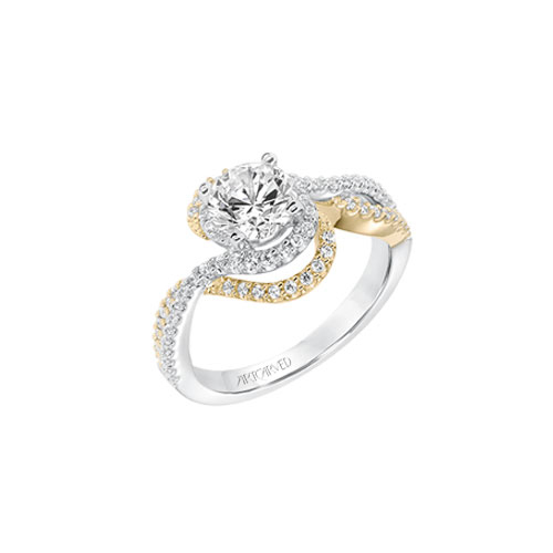 Diamond engagement ring designed by ArtCarved.