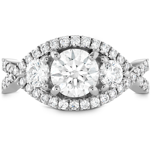 This ring was designed by Hearts on Fire and sold by Ben David Jewelers