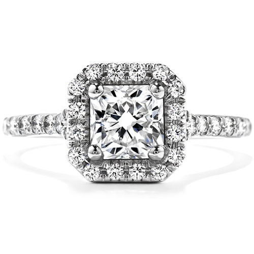 The cushion diamond engagement ring designed by Hearts on Fire