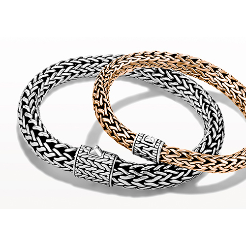 John Hardy designs bracelets for men and women.