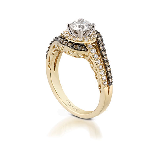 Chocolate diamond engagement ring by LeVian Jewelers