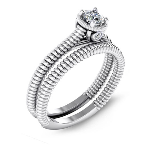 The Malo engagement ring brand is sold by Ben David Jewelers.