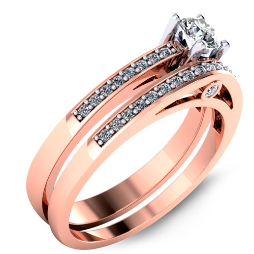 Low cost engagement ring in rose gold designed by Malo.