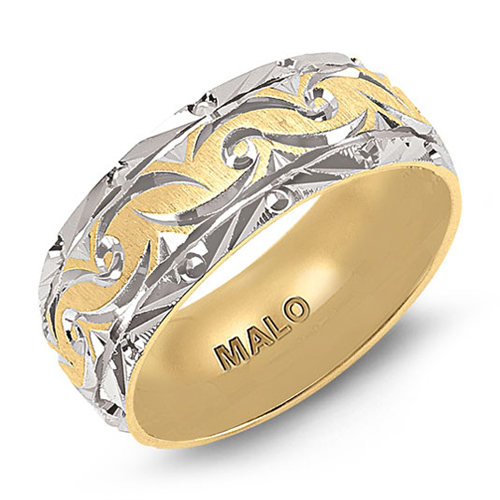 This wedding band is JM-0147H and designed by Malo.