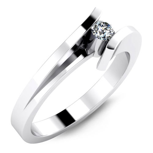A Bezel Engagement Ring by Malo