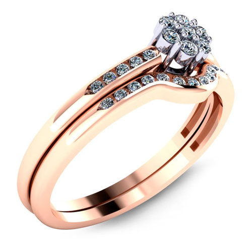 Malo Engagement rings in rose gold are sold by Ben David Jewelers.