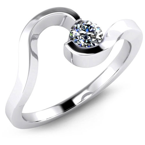 Platinum Engagement Ring by Malo Bands