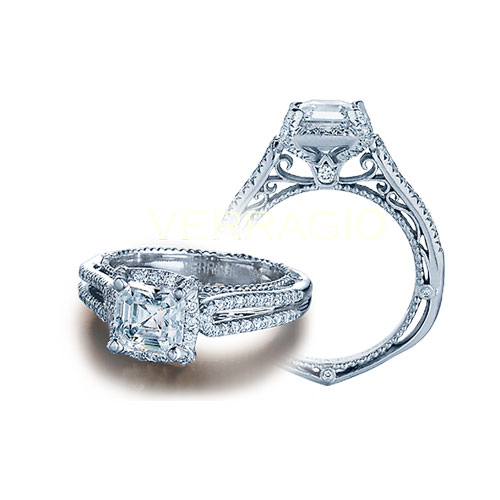 A Venetian Diamond Engagement Ring by Verragio.