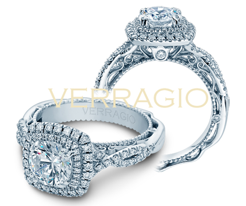 Diamond enagement rings by Verragio.