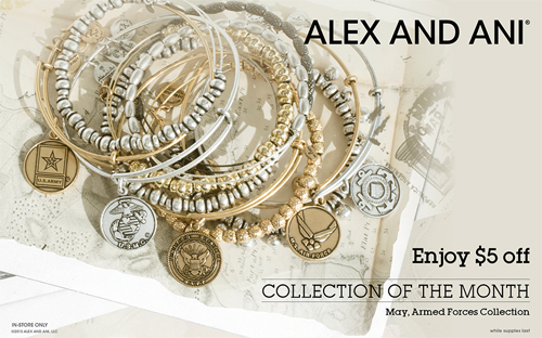 Special on Alex and Ani bangle bracelets.