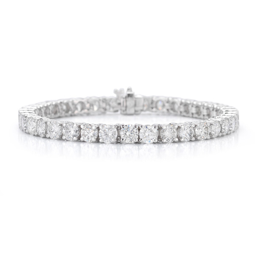 Ben David Jewelers can make a silver and diamond bracelet.