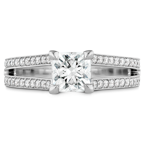 Designed by Hearts on Fire, this engagement ring is a show stopper.