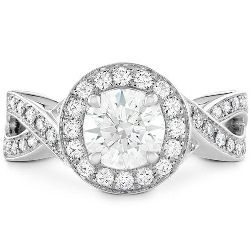 Halo engagement ring by HOF