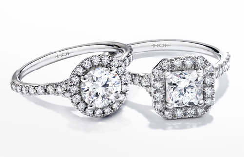 Hearts on Fire designs an engagement ring with halo