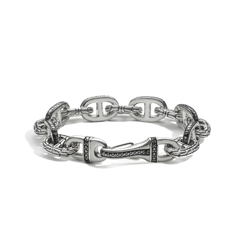 John Hardy men's bracelet design in sterling silver.