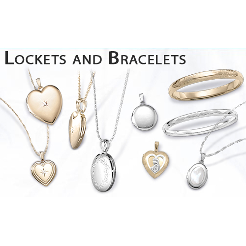 Lockets and baby bracelets for your newborn.