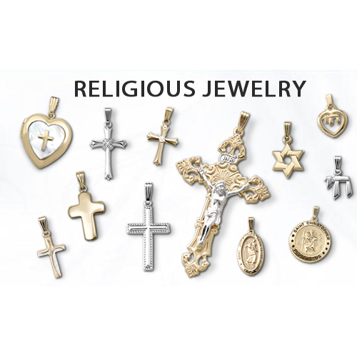 Christian and Jewish religious jewelry for children.