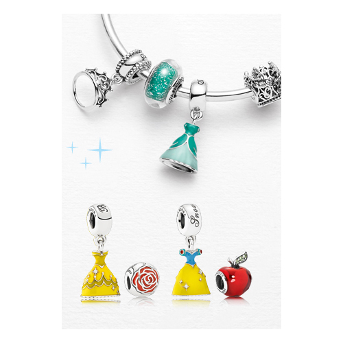 Snow White featured charms in Pandora's Disney Collection.