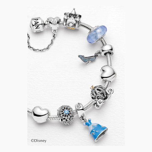 Make your own Cinderella bracelet with Pandora charms.