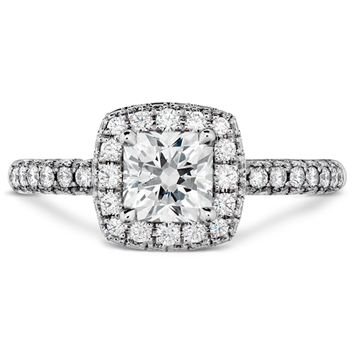 The Dream diamonds by Hearts on Fire are Princess Cut Diamond Engagement Rings.