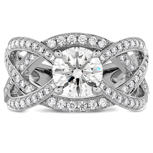 Gorgeous engagement rings designed by Hearts on Fire.