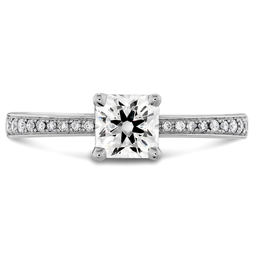 A Princess cut diamond from Hearts on Fire.