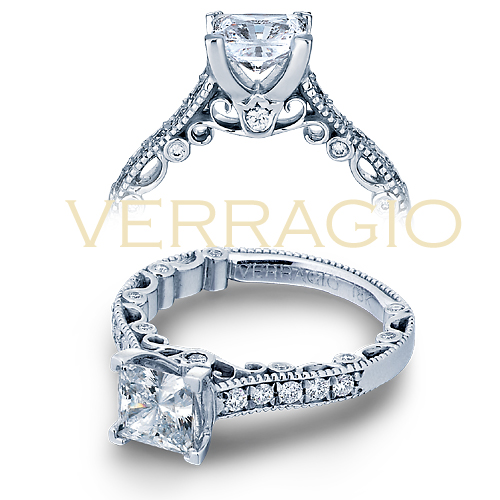 Princess Cut Diamond Engagement Rings are made by Verragio.