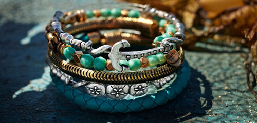 Alex and Ani new bangles for summertime.