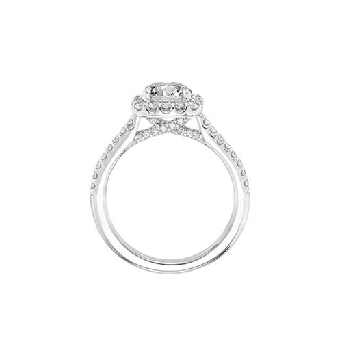 A side view of the Liv engagement ring.