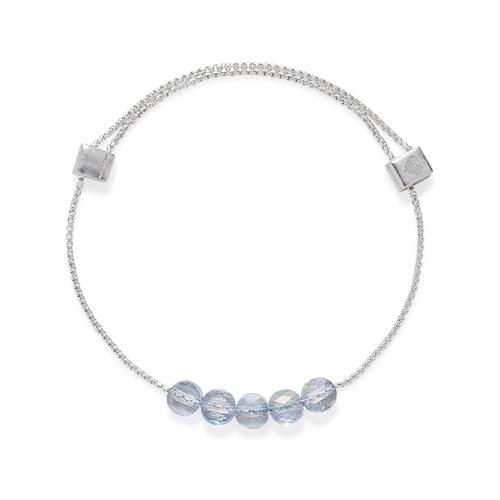 Swarovski Blue Shade Crystal Silver Bracelet