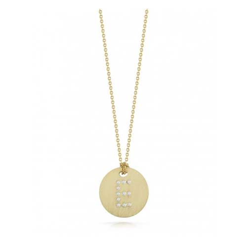 Tiny Treasures Collection by Roberto Coin has diamond initials.