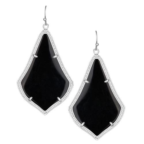Alexandra Silver earrings are designed by Kendra Scott.