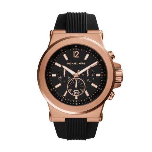 Michael Kors watch for men with rose gold detail.