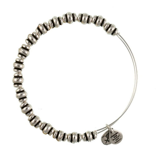 Metal beaded bangle by Alex and Ani.