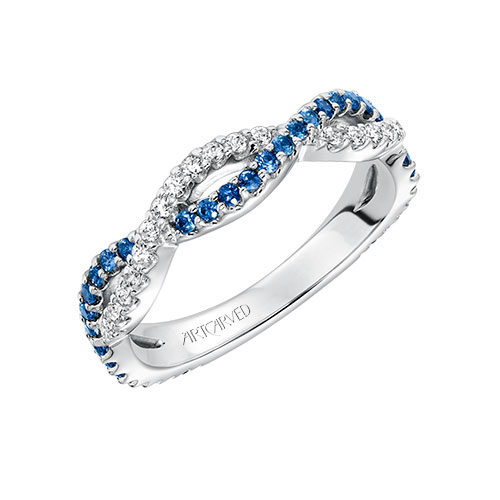Sapphires are a fun addition to a wedding ring.