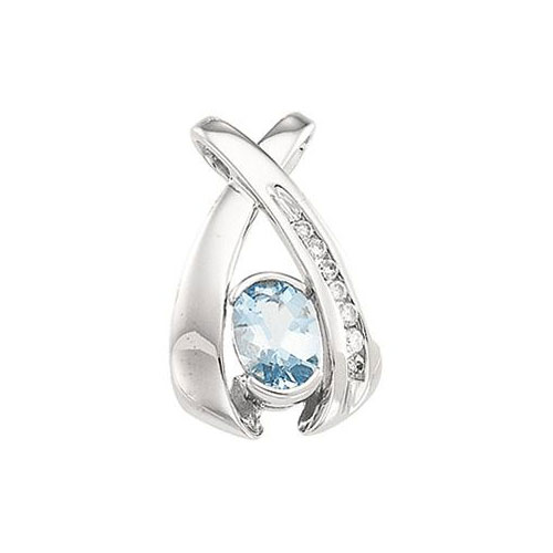 Aquamarine pendant online at Ben David Jewelers.