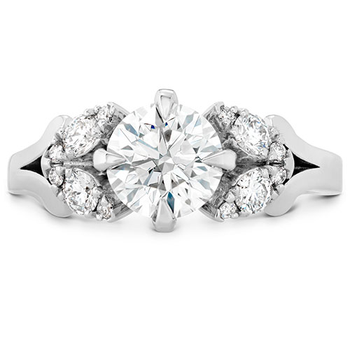 Diamond engagement rings come in many styles like this one from Hearts on Fire.