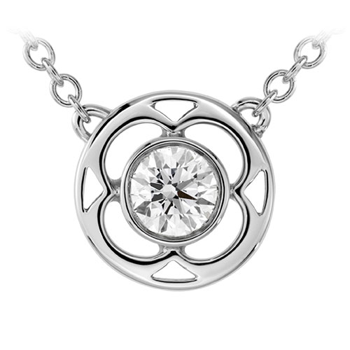 White gold is one of the precious metal choices for this pendant.
