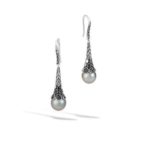 Beautiful pearl earrings designed by John Hardy.