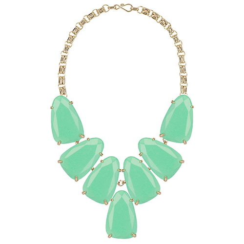 Kendra Scott Mint Necklace called Harlow Statement.