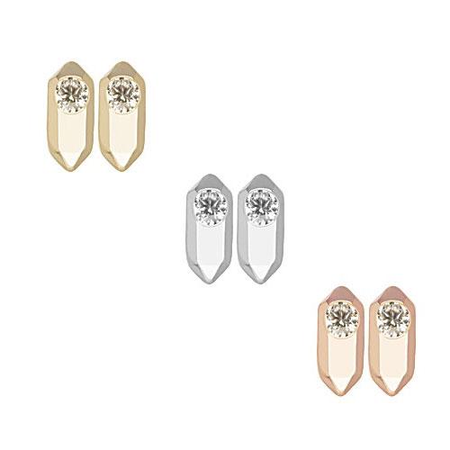Stud earrings designed by Kendra Scott.