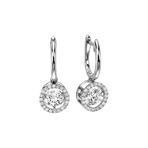 14K white gold is the precious metal that these earrings are made from.