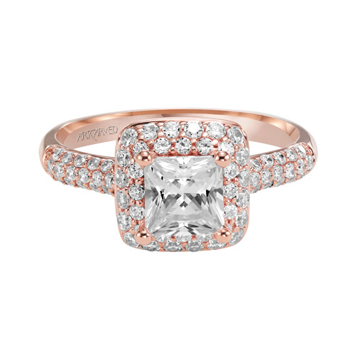 Princess Cut diamond in the ring named Betsy.