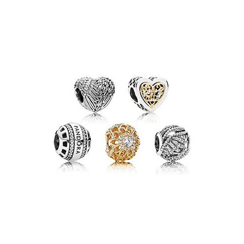 Beautiful charms from the Pandora Jewelry company.