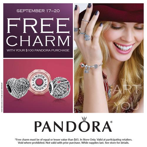 Get a free Pandora charm at Ben David Jewelers.
