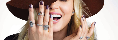 Pandora designs many band type of rings suitable for stacking.